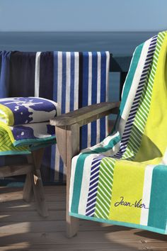 Drap de plage coton Jean-Vier Belharra Cocktail - Cotton beach towel Jean-Vier Belharra Cocktail >> http://www.jean-vier.com/