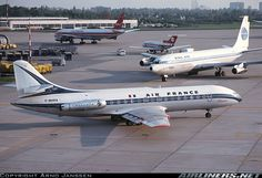 Pan Am B707 and Air France Caravelle, such classics.