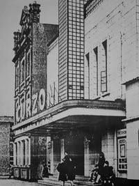 The Curzon as it appeared in the with its original signage and Art Deco lighting! — at Ormeau Road. Old Pictures, Old Photos, Belfast City, Streamline Moderne, Cinema Theatre, Art Deco Lighting, Emerald Isle, Northern Ireland, Big Ben