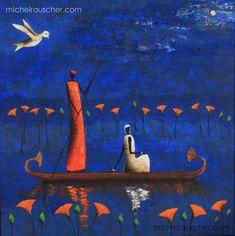 Michel RAUSCHER   Peintures - Huile sur toile - 80 x 80 cm - 2008