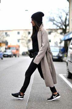 manteau long femme beige pour les femmes modernes de couleur gris