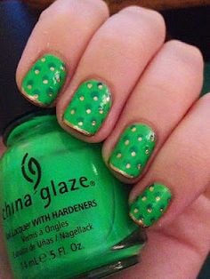Sharpie Nail Art- fun for st patty's day