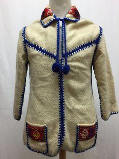 Vintage Wool Knit Inuit Eskimo Full Zip Lined Cowichan / Cardigan Size 2    eBay