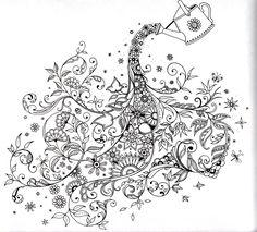 Secret garden: Johanna Basford: Watering the flowers ....♥♥