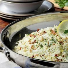 This Riced Cauliflower Pilaf has potential for endless possibilities. It's a low carb, gluten-free, grain-free, Paleo side that goes with almost any main protein.