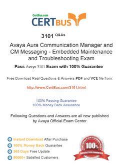 CertBus 3101  Free PDF&VCE Exam Practice Test Dumps Download - Real Q&As | Real Pass | 100% Guarantee! 3101 Dumps, 3101  Exam Questions, 3101 New Questions, 3101  PDF, 3101 VCE, 3101  braindumps, 3101  exam dumps, 3101  exam question, 3101 pdf dumps, 3101 Practice Test, 3101 study guide, 3101 vce dumps  http://www.certbus.com/3101.html