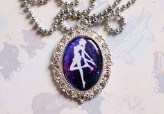 Sailor Moon Transformation Silhouette Cameo Necklace. $20.00.