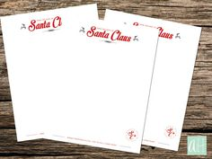 From the desk of Santa letterhead straight from the Northpole!
