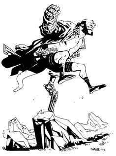 I would crazy love to see Chris Samnee do a Hellboy issue.