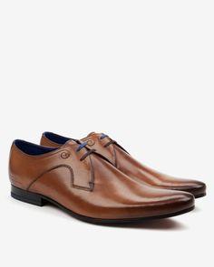 Leather derby shoes - Tan | Footwear | Ted Baker UK