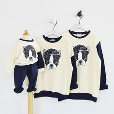 Family Pullovers Autumn Cartoon Dog Cotton Clothes Mom Dad Kids Baby C Related posts: and baby shirtsMommy and me outfit, matching mom baby shirts, Mom Son matching outfitsTop Ten Grandparent Must Haves for a New Grand-baby. Having a new baby? Dog Shirt, Sweater Shirt, White Bulldog, Mommy And Me Shirt, Autumn T Shirts, Mother Daughter Outfits, Cartoon Dog, Matching Family Outfits, Baby Shirts