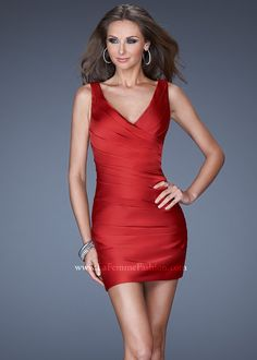 La Femme 19546 - Sexy Short Cranberry Red Homecoming Dresses Online
