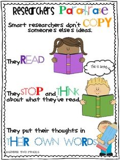 Love this paraphrase poster set! Will need to use with my students!