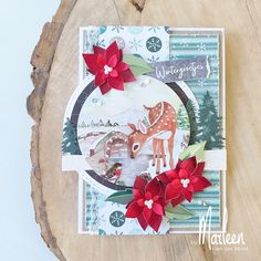 Cozy Christmas, Christmas Cards, Paper Crafts, Diy Crafts, Metallic Paper, Winter Flowers, Marianne Design, Winter Cards, Winter Day
