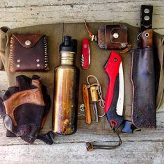 "2,023 Likes, 35 Comments - The Retro-modern Woodsman (@n_e_wilderness) on Instagram: ""This is the bushcraft kit I'll be packing for Hawaii. It's a family vacation, but I imagine I'll…"""