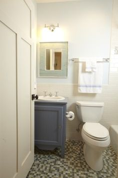 Inexpensive bathroom remodel on pinterest bathroom for Updated small bathroom ideas