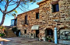 Kambos area . Chios island. Greece Perleas Mansion it's a place combining the nobility of an old mansion with the beautiful environment of organic farming.