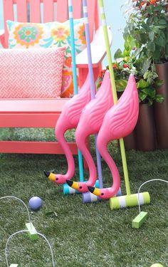 DIY Flamingo Croquet Set--NEED!!