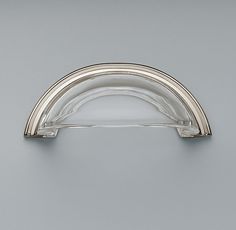round polished nickel and glass pull restoration hardware - Restoration Hardware Kitchen Cabinet Pulls