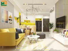 Đây là mẫu thiết kế theo phong cách hiện đại với màu sắc nổi bật, sinh động. Phù hợp với những người yêu thích sự trẻ trung, mới mẻ trong thiết kế nội thất
