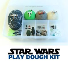 - Star Wars Princesses - Ideas of Star Wars Princesses - Star Wars Play Dough Kit :: Star Wars craft :: Star Wars party ideas Playdough Activities, Craft Activities For Kids, Toddler Activities, Crafts For Kids, Montessori, Star Wars Crafts, Star Wars Party, Play Doh, Pretend Play