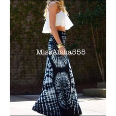 String black tie dye maxi skirt RESTOCKED Bohemian chic string maxi tie dye fold waist skirt PLEASE comment on the size you want ( when your ready to purchase) and allow me to make you a personalized listing BUNDLE And SAVE 10% please don't use the bundle option doesn't guarantee sizes available Skirts Maxi
