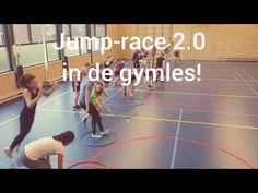 Jump-Race 2.0 in de gymles! Lekker actief je les beginnen kan met de Jump-race 2.0! Welk tweetal weet als eerste de eindstreep te behalen? Eph 5, Team Building, Physical Education, Fun Games, Physics, Activities For Kids, Videos, Classroom, Racing