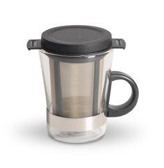 Vaso con formato para té con un diseño personalizado y exclusivo para disfrutar del té una manera fácil y sencila.