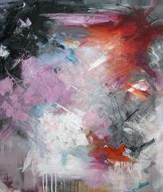 Abstract painting by Rikke Laursen Moderne abstrakt maleri