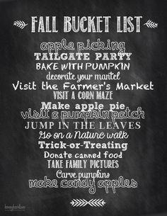 Fall bucket list :: zazumi.com