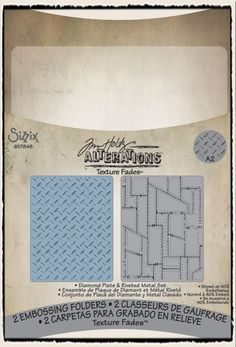 Tim Holtz / Sizzix - Texture Fades: Diamond Plate and Riveted Metal Set - CHA Winter 2012