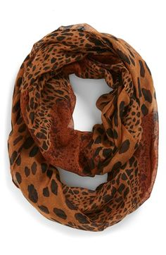 Mixed leopard print infinity scarf http://rstyle.me/n/mn679nyg6