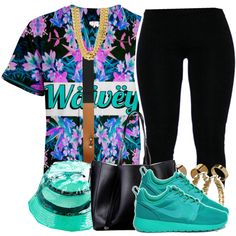 2-26-15 wavey (dont copy my set) by no-flex-zone on Polyvore featuring Lorna Jane, Atmos&Here, Lauren Ralph Lauren, Warehouse, Reason and NIKE