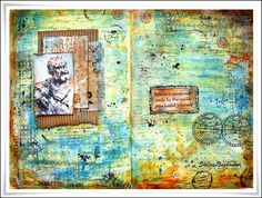"""Neon Diary: """"You are confined....."""" Art Journal Page"""