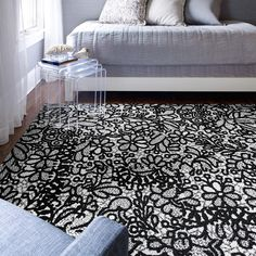 Add the perfect pop of design to your most peaceful space with our Floweret carpet squares.
