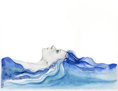 Uno de un tipo de Arte Original azul pintura abstracta de un regalo de las mujeres para su pintura de dibujo de una niña