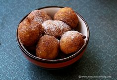 Eggless Pampoen Koekies - Famous South African dessert made with Pumpkin puree. These fritters are mildly sweetened and can be served with powdered sugar. South African Desserts, South African Recipes, South African Food, Oven Recipes, Gourmet Recipes, Baking Recipes, Yummy Recipes, Pumpkin Recipes, Fall Recipes