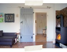 FINGERFABRIK: DIY Vintage Schiebetür, Brigitte Blogger Award {Das Voting} * DIY barn door as a sliding door