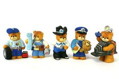 Lucy and Me Enesco Porcelain Occupational Bear Figurines 1993 - 1996