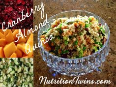 Cranberry Almond Quinoa | Only 183 Calories | Power Meal, Satiating | Protein & Fiber | For MORE RECIPES, Fitness & Nutrition Tips please SIGN UP for our FREE NEWSLETTER www.NutritionTwins.com