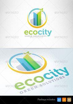 Eco Green City Sustainable Development  Logo Design Template Vector #logotype Download it here:  http://graphicriver.net/item/-eco-green-city-sustainable-development-logo/4741392?s_rank=372?ref=nesto