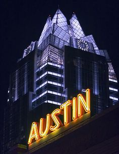 Frost Tower in Austin...by tropicdiver via Flickr