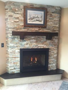 Most up-to-date Pics Gas Fireplace makeover Strategies Almost as much as we all criticize pertaining to winter weather through New york, there are some ups Corner Gas Fireplace, Farmhouse Fireplace Mantels, Fireplace Frame, Propane Fireplace, Wooden Fireplace, Home Fireplace, Fireplace Remodel, Fireplace Inserts, Fireplace Surrounds