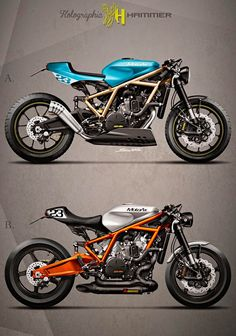 KTM 1190 Custom Cafe Racer by Holographic Hammer Ktm Cafe Racer, Style Cafe Racer, Cafe Bike, Custom Cafe Racer, Cafe Racer Motorcycle, Motorcycle Design, Bike Design, Classic Motorcycle, Chopper