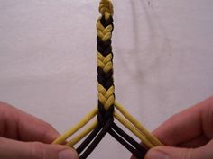 For making reins. Shows the basic braid as well as different pattern variations.