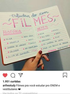 Recomendação de bons filmes que nos ajudam a absorver conteúdos importante durante nosso tempo livre! Quem aí já assistiu algum desses? E quem ainda não assistiu? School Motivation, Study Motivation, Jesus Is Life, Study Organization, Bullet Journal School, Study Planner, Exam Study, Lettering Tutorial, School Notes