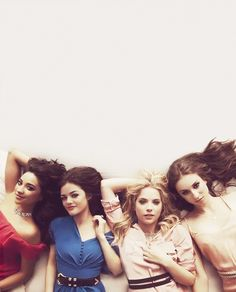 Pretty Little Liars + Emily Fields + Shay Mitchell + Lucy Hale + Aria Montgomery + Ashley Benson + Hanna Marin + Spencer Hastings + Troian Bellisario
