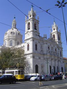 This is the basilica de Estrella one of the oldest places in Lisbon Portugal il love it there Portugal Destinations, Portugal Places To Visit, Cruise Destinations, Portugal Travel, Places To See, Sintra Portugal, Spain And Portugal, Beautiful Castles, Most Beautiful Cities