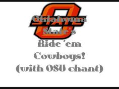 Oklahoma State University Cowboys - fight song with words - Ride 'em Cowboys!
