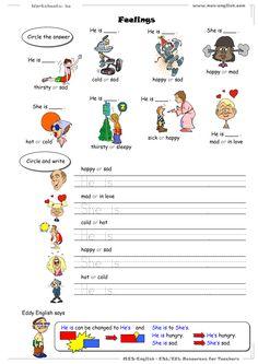 worksheets - feelings